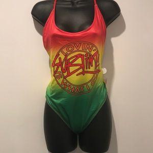 Rasta swim suit from F21